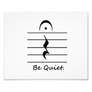 Music Notation Rest Be Quiet Photograph
