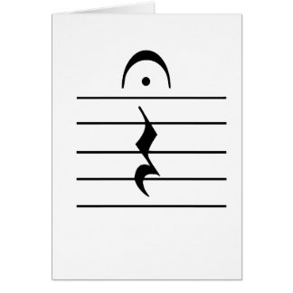 Music Notation Rest Blank Stationery Note Card