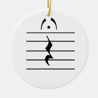 Music Notation Rest Blank Double-Sided Ceramic Round Christmas Ornament
