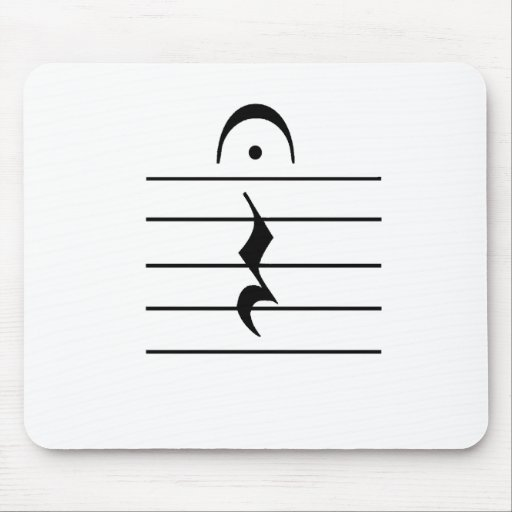 Music Notation Rest Blank Mouse Pad