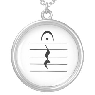 Music Notation Rest Blank Custom Necklace