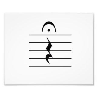 Music Notation Rest Blank Photo Print