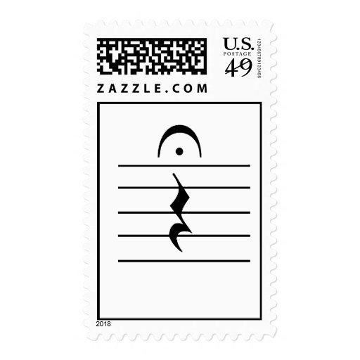 Music Notation Rest Blank Postage Stamps