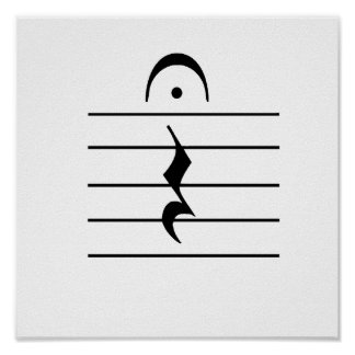 Music Notation Rest Blank Poster