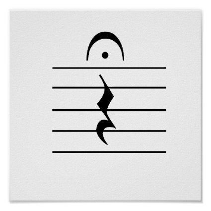 Music Notation Rest Blank Posters