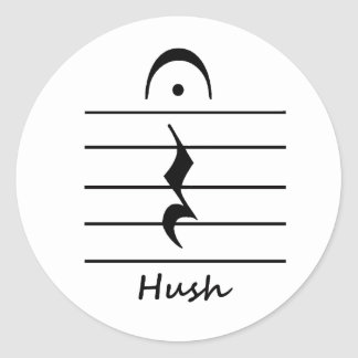 Music Notation Rest with Hush Sticker