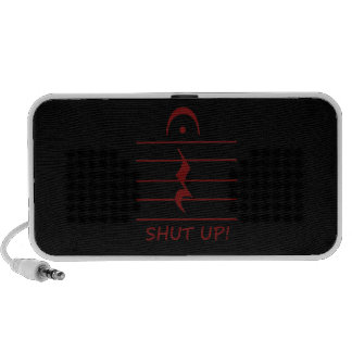 Music Notation Rest with Shut up Maroon iPhone Speaker
