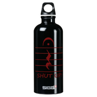 Music Notation Rest with Shut up Maroon Water Bottle