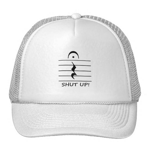 Music Notation Rest with Shut up Mesh Hat