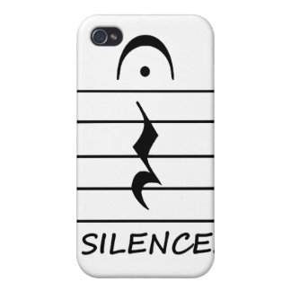 Music Notation Rest with Silence Cases For iPhone 4