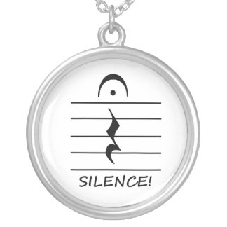 Music Notation Rest with Silence Custom Necklace