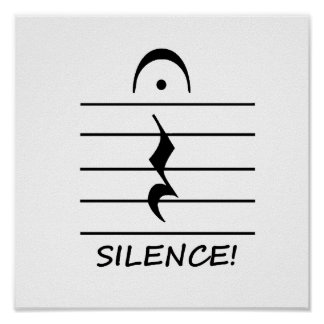 Music Notation Rest with Silence Poster