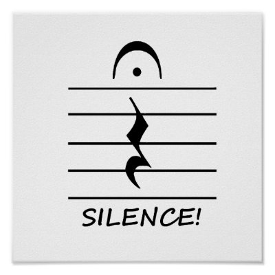 Music Notation Rest Blank Poster Zazzle