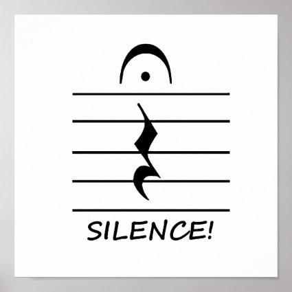 Resultado de imagen de silence music notation