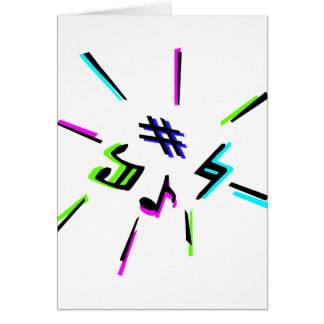 Music notation symbols graphic stationery note card