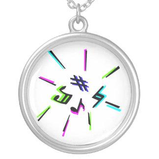 Music notation symbols graphic custom jewelry