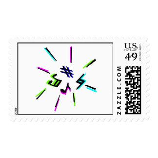 Music notation symbols graphic postage
