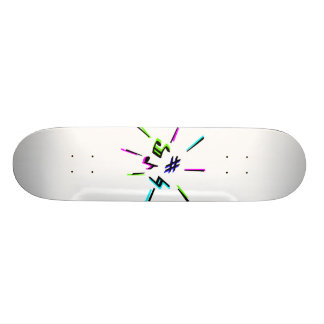 Music notation symbols graphic skateboard