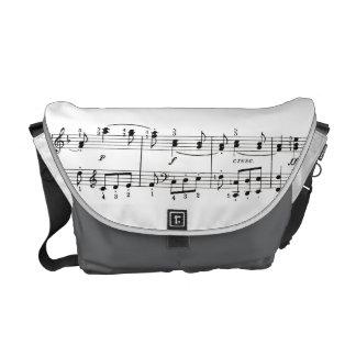 Music Notations Messenger Bag