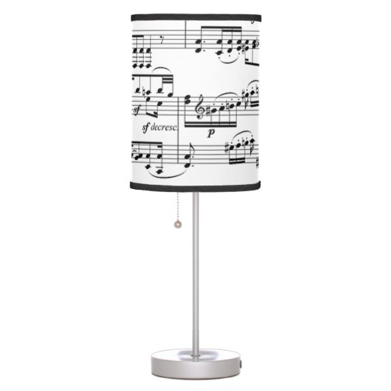 music notations table lamp