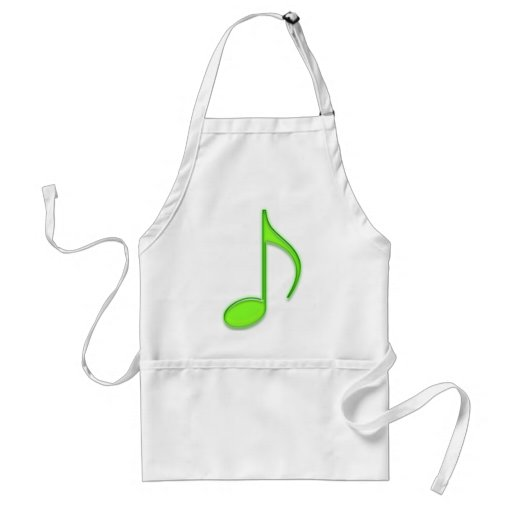 Music Note Adult Apron