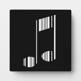 MUSIC NOTE BAR CODE Musical Barcode Pattern Plaque