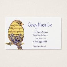 Music Note Bird Custom Business Card at Zazzle