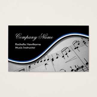 Music Note  Business Cards ~ Blue