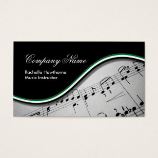 Music Note  Business Cards ~ green