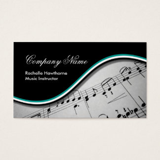 Music Note  Business Cards ~ teal