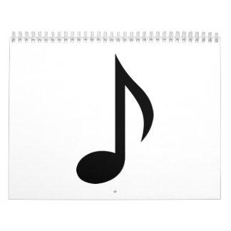 Music note calendar