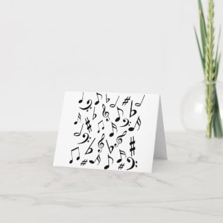 Music Note Card card