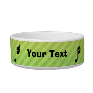 Music Note Cat Water Bowl