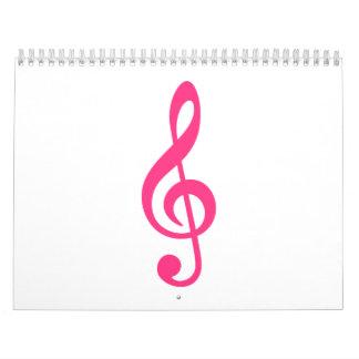 Music note clef calendar
