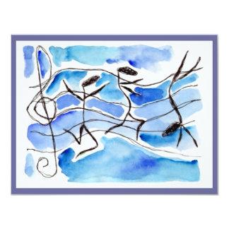 "Music Note Dancers Recital Or Party INVITATION 4.25"" X 5.5"" Invitation Card"