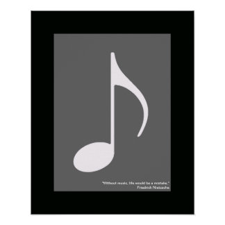 music note decoration wall poster