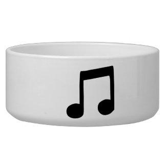 Music Note Dog Food Bowl
