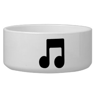Music Note Dog Water Bowls
