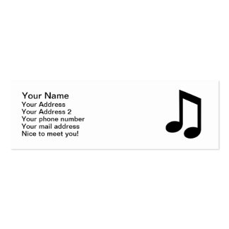 Music note Double-Sided mini business cards (Pack of 20)