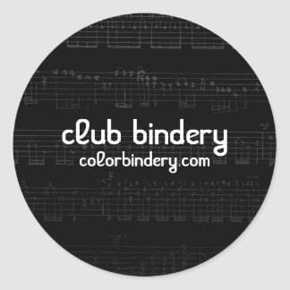 Music Note Frenzy Stickers Round Sticker