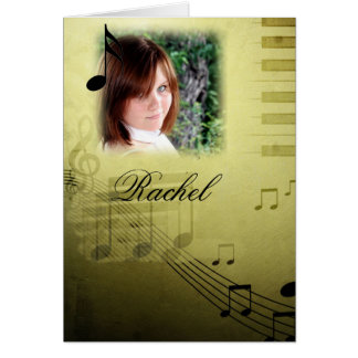 Music Note Graduation Thank You Cards