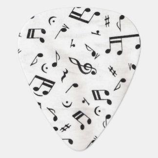 Music note guitar pick