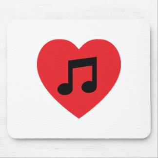 Music Note Heart Mousepad
