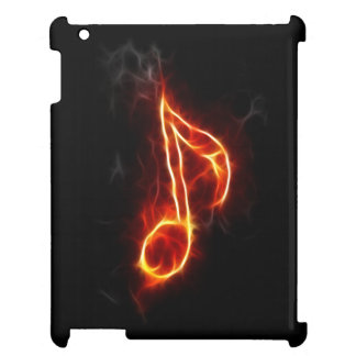 Music Note In Flames iPad Cases