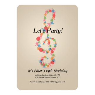 Music Note Invitation