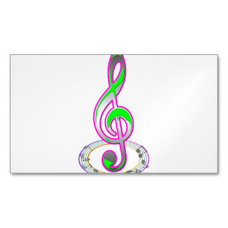 Music Note Magnetic Business Card