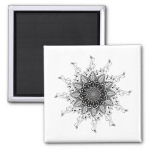 Music Note Mandala Magnet