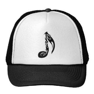 music note mesh hats
