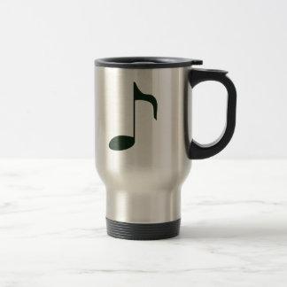 music note 15 oz stainless steel travel mug