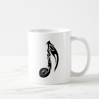 music note classic white coffee mug